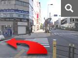 「上本町6東」の交差点を左へ。